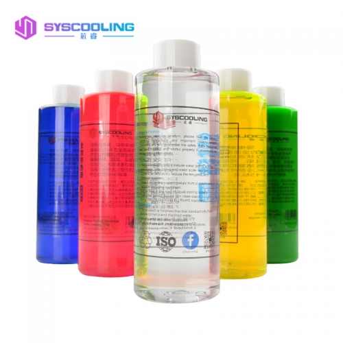 Syscooling Transparent Color Water-cooled Thermal Fluid 500ML Coolant Computer Water Cooling Accessories